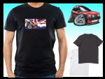 KOOLART CLASSIC BRITISH Design for Retro Mk1 Ford Fiesta XR2 mens or ladyfit t-shirt
